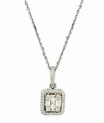 WHITE DIAMOND MOSAIC PENDANT