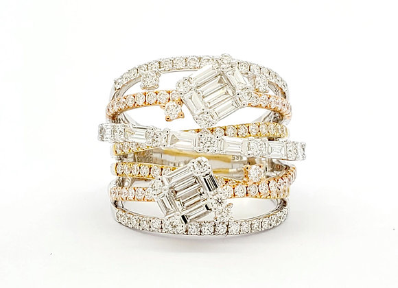 MULTI BAND BAGUETTE DIAMOND RING