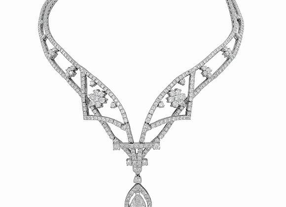 PEAR SHAPE DIAMOND NECKLACE