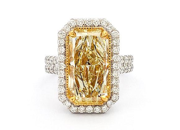 Radiant Cut Yellow Diamond Ring