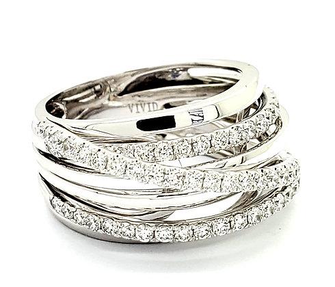 MULTI BAND WHITE DIAMOND RING