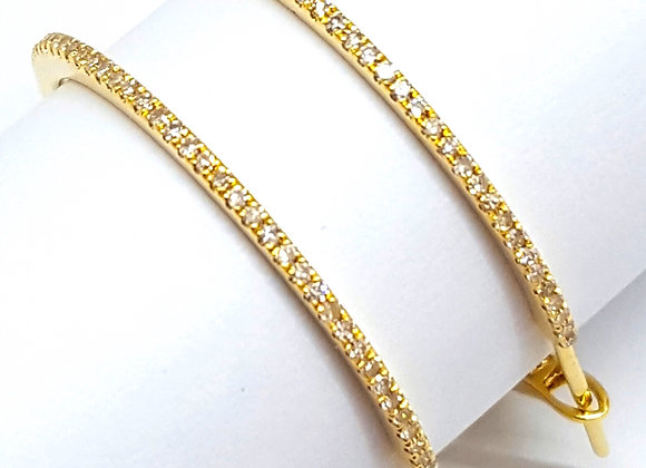 1.5 INCH WHITE DIAMOND HOOPS