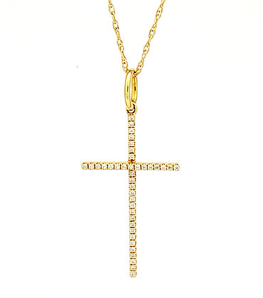WHITE DIAMOND CROSS PENDANT