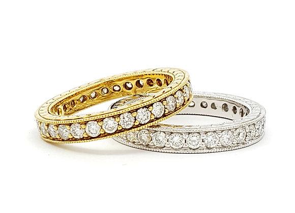 WHITE DIAMOND DOUBLE RING SET