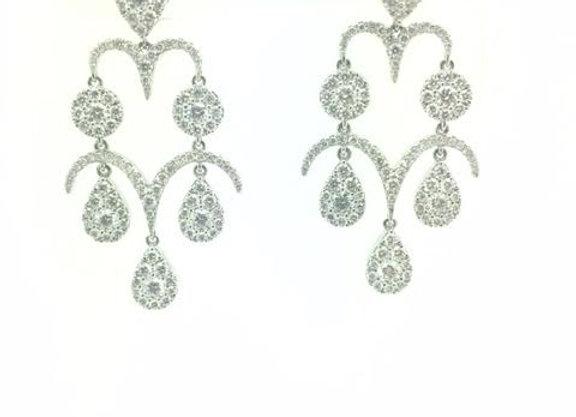 WHITE DIAMOND DROP EARRINGS
