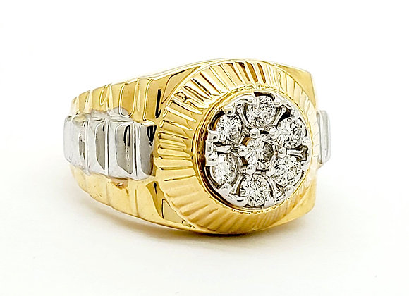 WHITE DIAMOND MENS RING