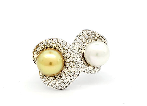 SOUTH SEA AND FRESH WATER PEARL RING