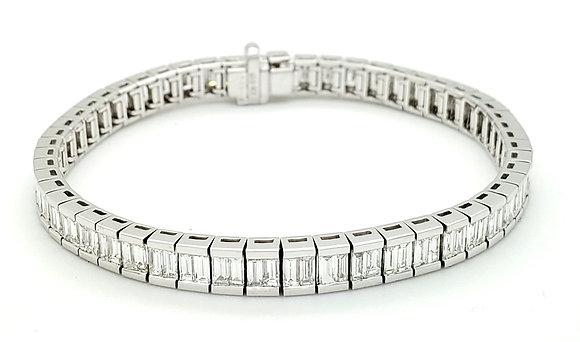 WHITE DIAMOND CHANNEL SET BRACELET