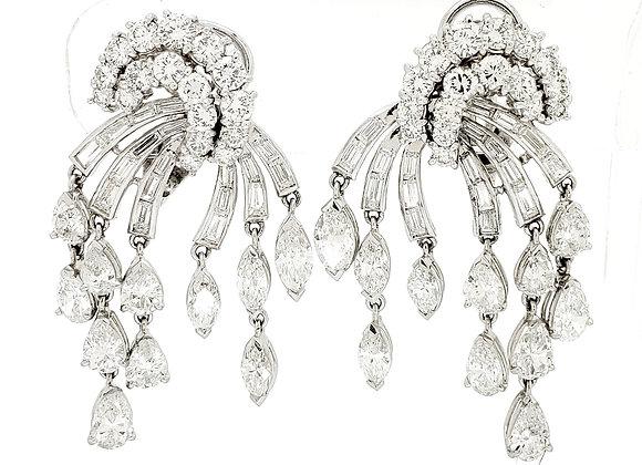 MIXED CUT WHITE DIAMOND EARRINGS