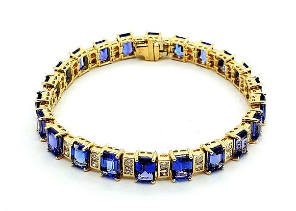 TANZANITE AND DIAMOND BRACELET