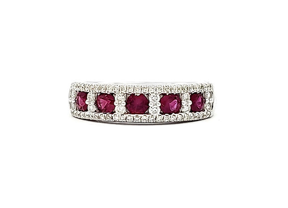 RUBY AND WHITE DIAMOND RING