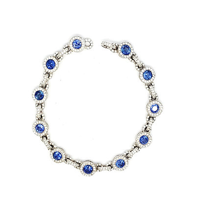 SAPPHIRE AND WHITE DIAMOND BRACELET