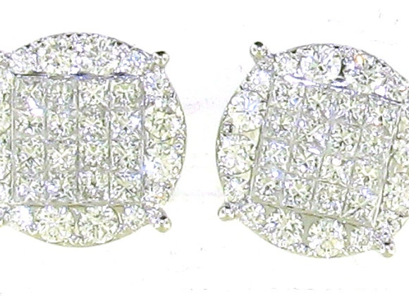 WHITE DIAMOND INVISIBLE SETTING EARRINGS