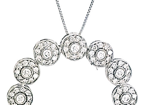 WHITE DIAMOND CIRCLE PENDANT