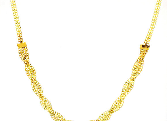 14KT YELLOW GOLD FANCY BRAID NECKLACE