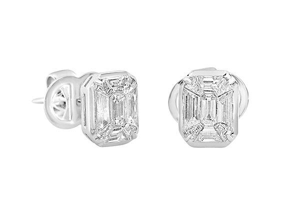 Baguettes Cut Diamond Earrings
