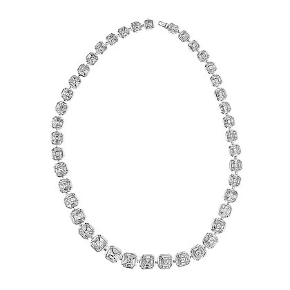 Baguettes Cut Diamond Necklace