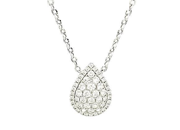 WHITE DIAMOND PEAR SHAPE NECKLACE