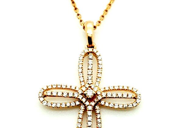 WHITE DIAMOND CROSS PENDANT