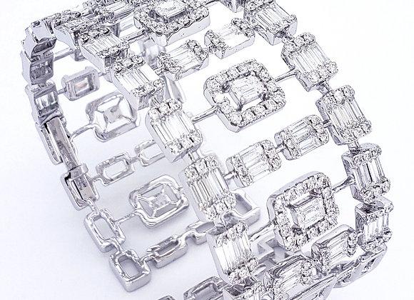 BAGUETTE CUT DIAMOND BANGLE
