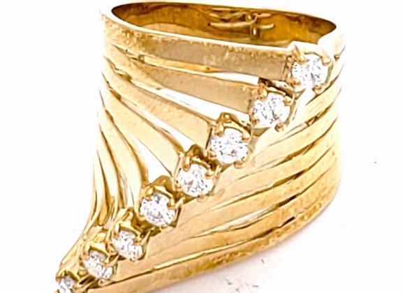 WHITE DIAMOND CONTOUR RING