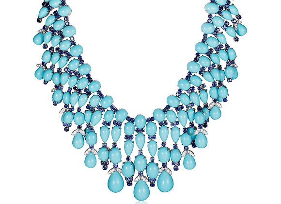 TURQUOISE AND SAPPHIRE NECKLACE