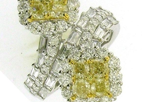 YELLOW DIAMOND BYPASS RING