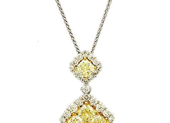 YELLOW DIAMOND MOSAIC PENDANT