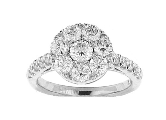 ROUND WHITE DIAMOND RING
