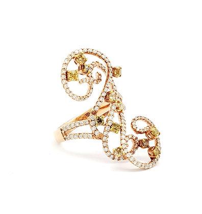 WHITE DIAMOND SWIRL RING
