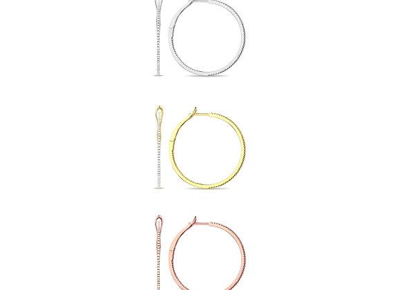 Fine Diamond Hoop Earrings