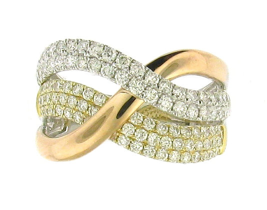 MULTI CROSSOVER DIAMOND RING