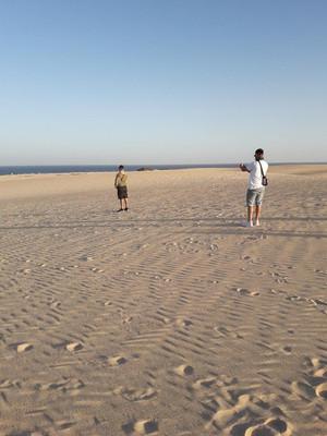 The sand dunes corralejo fuerteventura