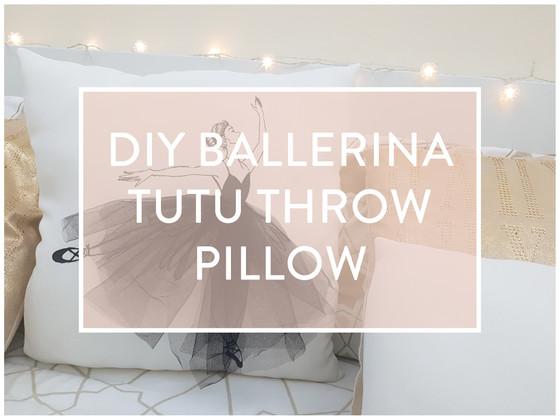 DIY Ballerina Tutu Cushion