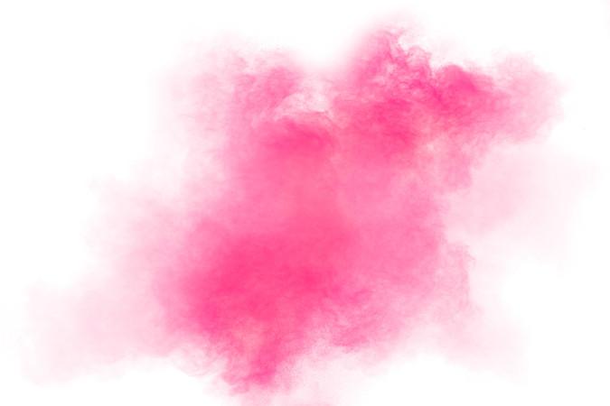 Pink dust splatter on background.Pink po