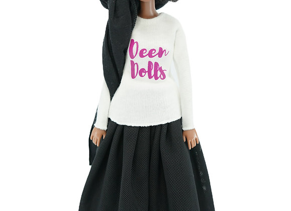 MARYAM Designer T-Shirt + Modest PLATOON BLACK Tutu Skirt