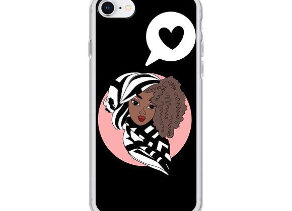 Black Deen Doll iPhone Case