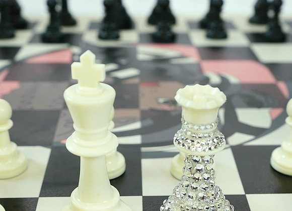 Crystallized Queens Chess Set