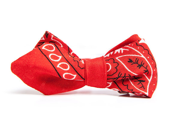 Red Bandana Bowtie