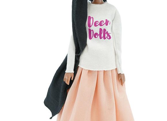 MARYAM Designer T-Shirt + Modest VENUS PINK Tutu Skirt