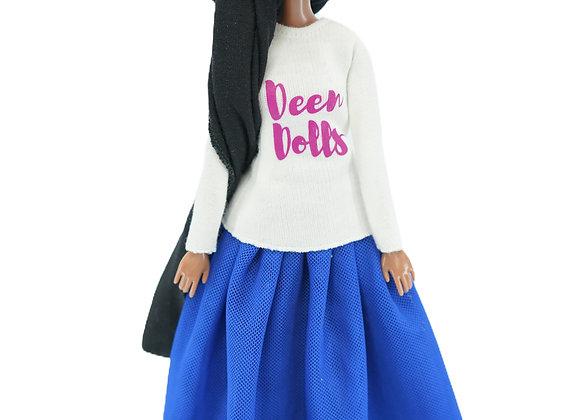 MARYAM Designer T-Shirt + Modest NEPTUNE BLUE Tutu Skirt