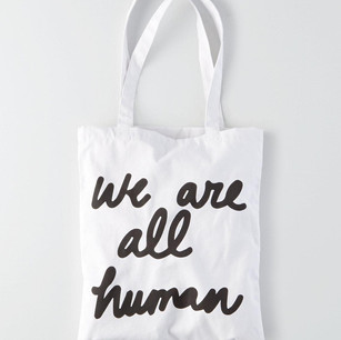 We Are All Human tote bag