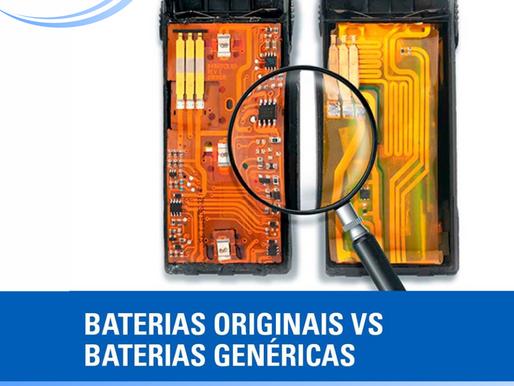 BATERIAS ORIGINAIS VS BATERIAS GENÉRICAS