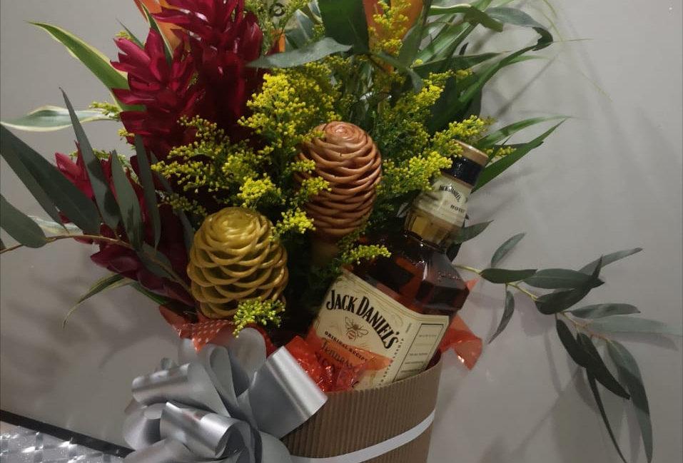 Caja de tropical de whisky jack Daniels