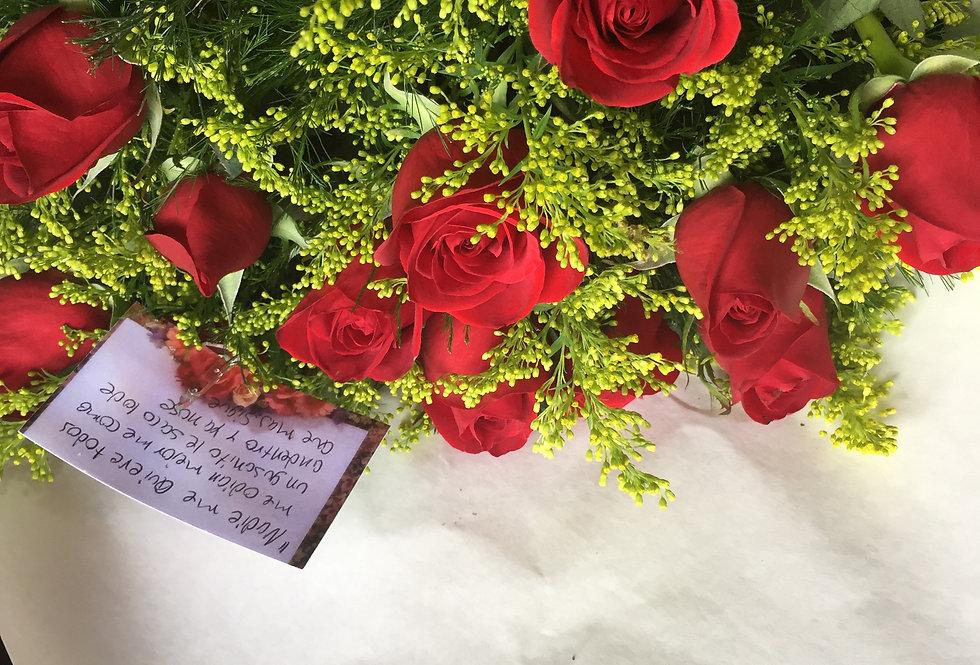 M35/12 rosas decoradas