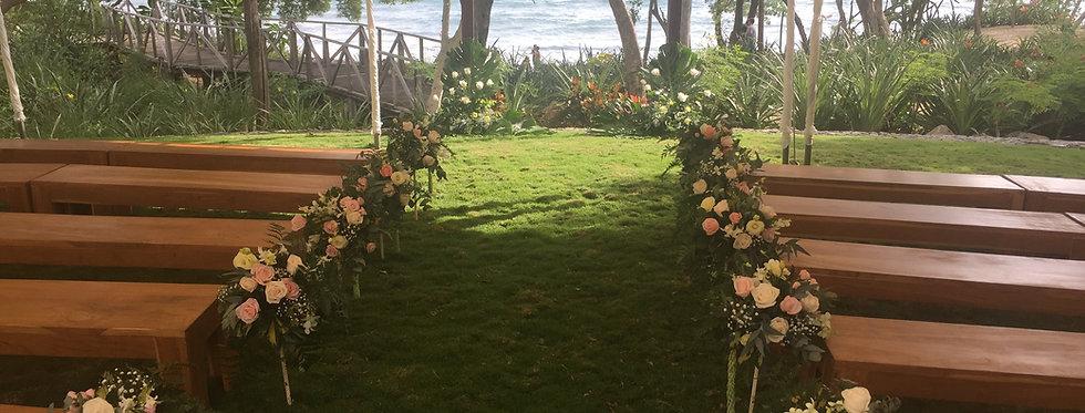 Decoración ceremonia playa