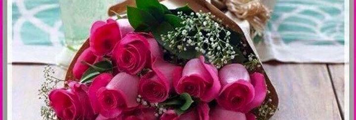 M56/Rosas con gypsofilia