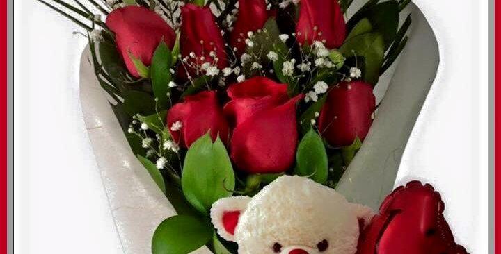 M51/12 rosas con peluche