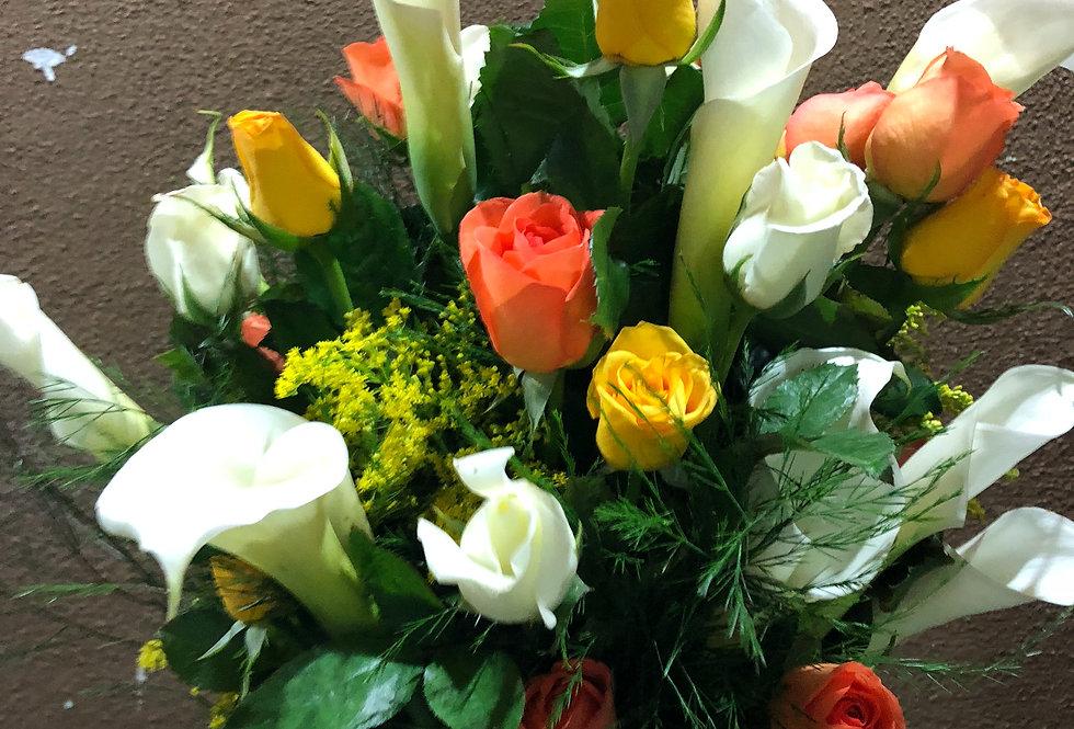 M69/ rosas con calas ( cualquier color de rosas )