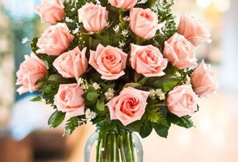 M40/24 rosas en vidrio